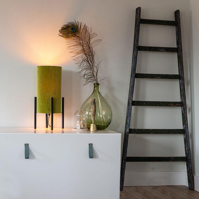 Design-asztali-lámpa-fekete-bársony-árnyalatú-zöld-arannyal---gazdag