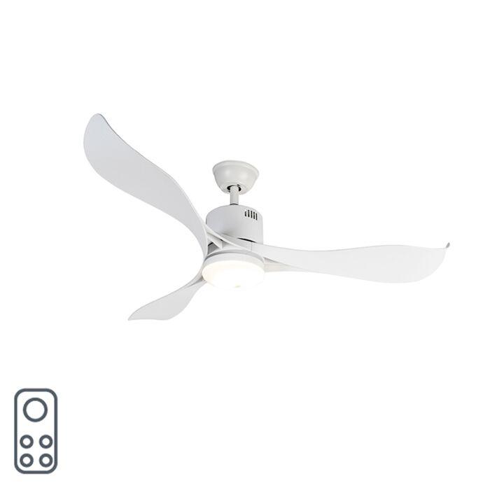 Mennyezeti-ventilátor-fehér-LED-del-és-távirányítóval---Kolm