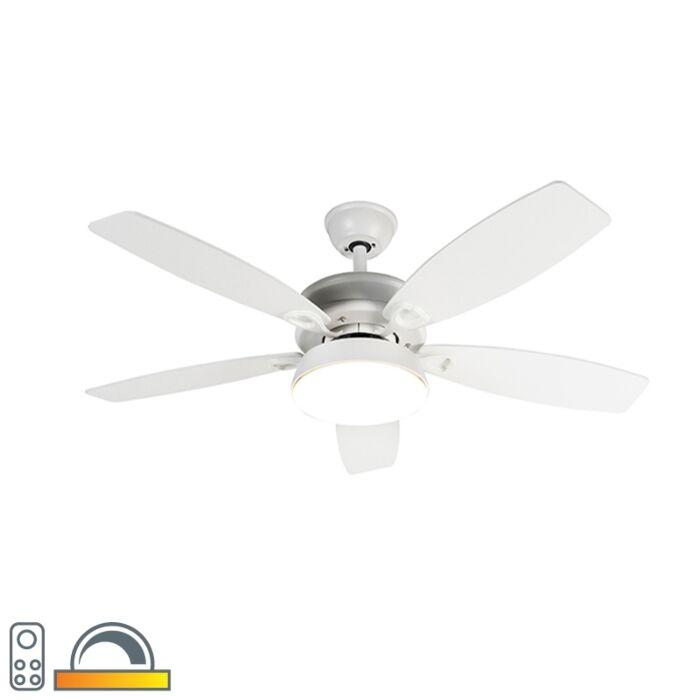 Design-mennyezeti-ventilátor-fehér,-LED-del,-távirányítóval---Malaki