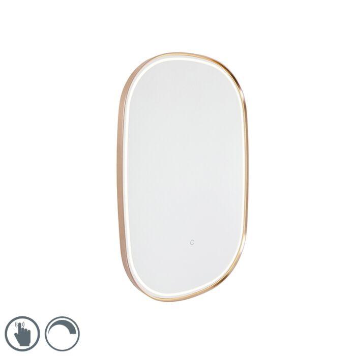 Fürdőszobatükör,-réz,-LED--del-ovális-fényérzékelővel---Miral