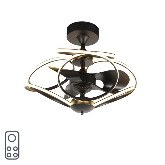 Design-mennyezeti-ventilátor-fekete-távirányítóval,-LED-del---Kauv