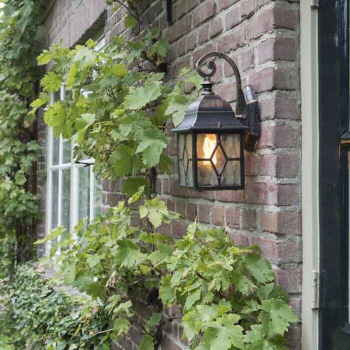Romantikus-kültéri-fali-lámpa-bronz---London