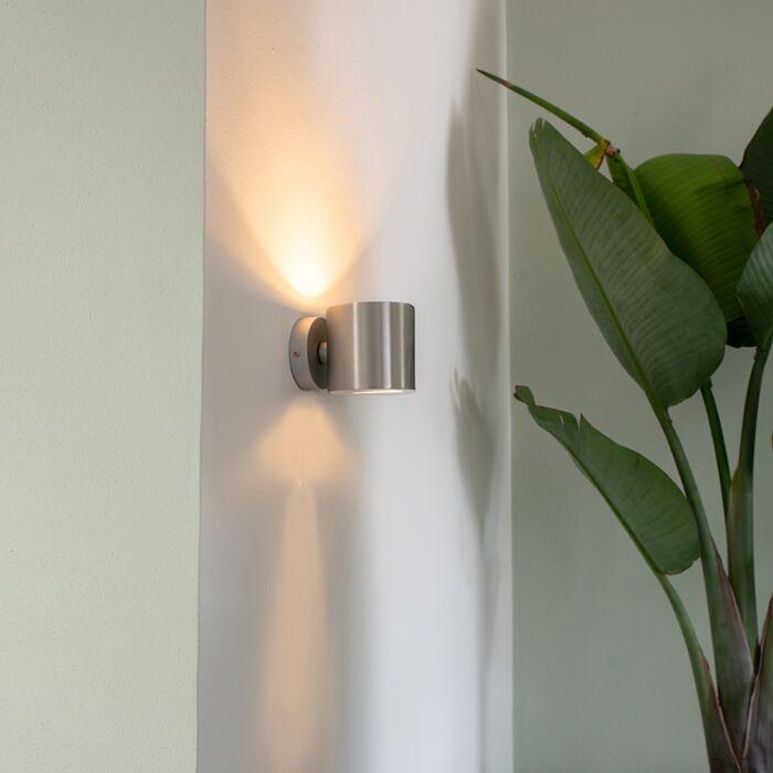 Modern-fali-lámpa-alumínium-kerek---Hatás
