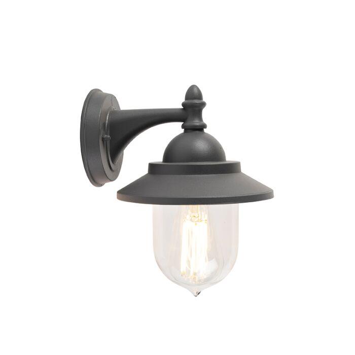 Romantikus-kültéri-fali-lámpa-sötét-szürke---Oxford