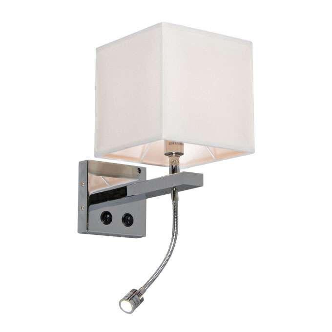Fali-lámpa-Brescia-króm-árnyalatú-krémmel
