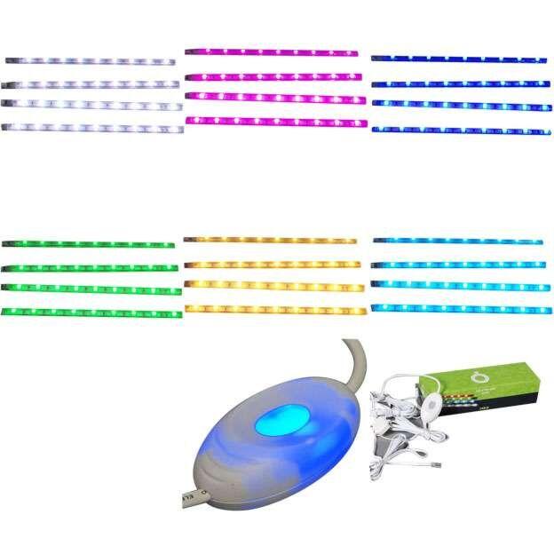 Négy-RGB-LED-szalag-készlet