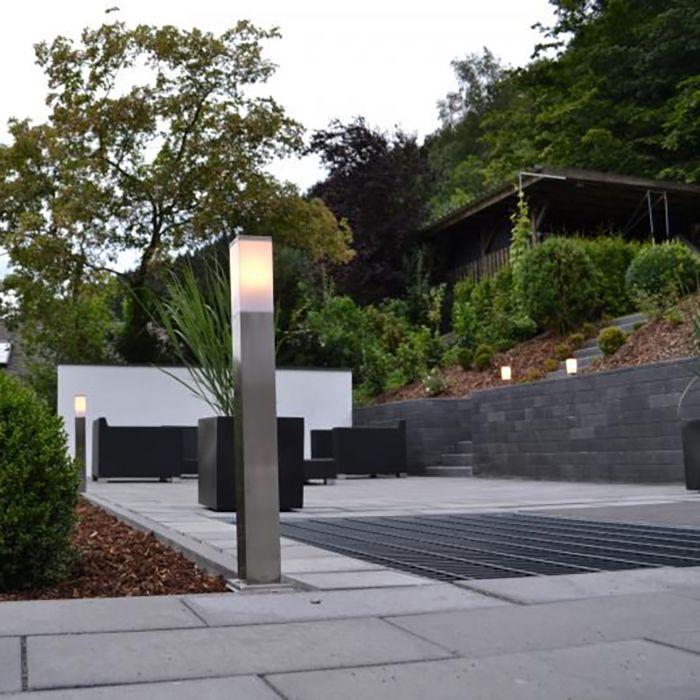 Modern-kültéri-lámpa-80-cm-acél---Malios
