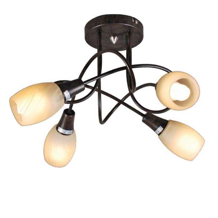 Mennyezeti-lámpa-Andrea-4-rozsdabarna