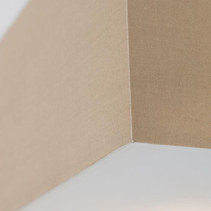 Modern-szögletes-mennyezeti-lámpa-bézs-35cm---Dob