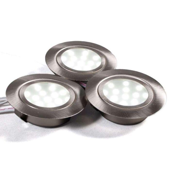 Szekrény-szerelési-készlet-3-x-LED-acél