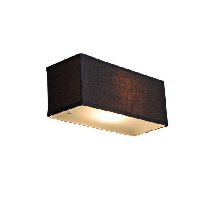 Fali-lámpa-Dob-téglalap-fekete