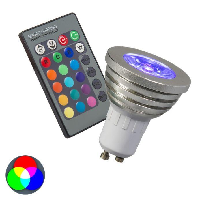 RGB-GU10-lámpa-távirányítóval