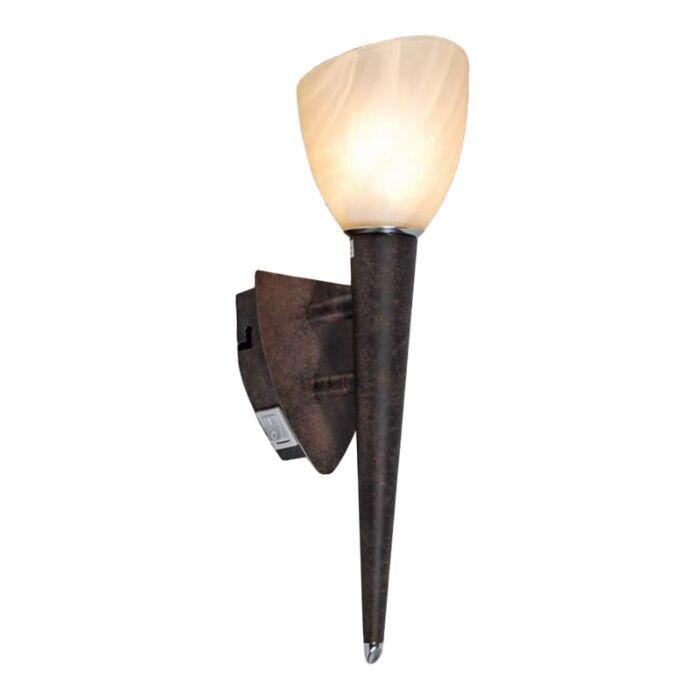 Fali-lámpa-Pajzs-rozsdabarna