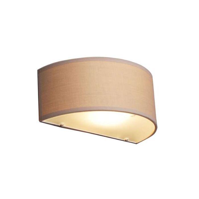 Fali-lámpa-Dob-fél-kerek-bézs