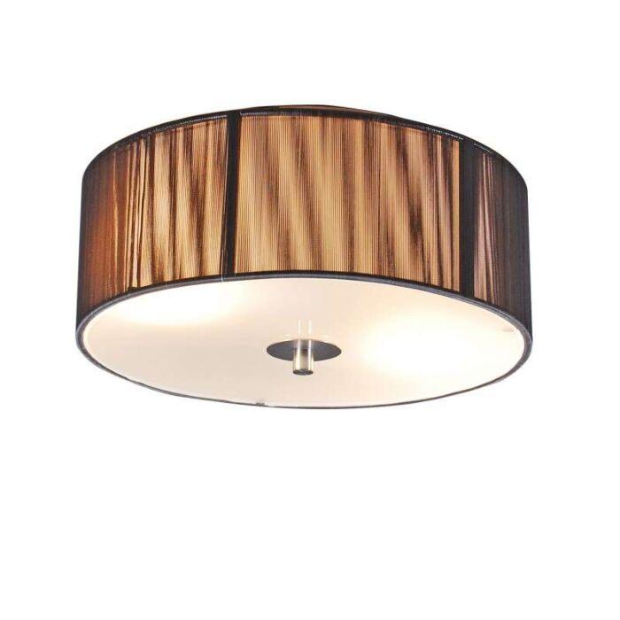 Klasszikus-mennyezeti-lámpa-antracit-30-cm---Kötél