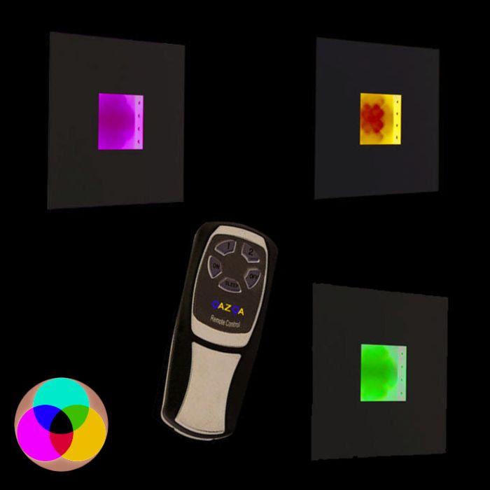 Fali-lámpa-Plate-RGB-LED-fehér