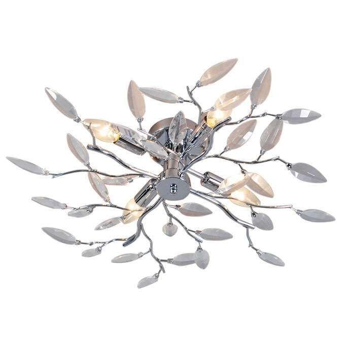 Mennyezeti-lámpa-Forest-4-Üveg-króm