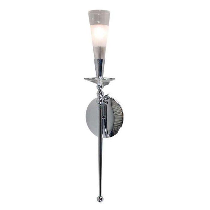 Abby-1-fali-lámpa-króm