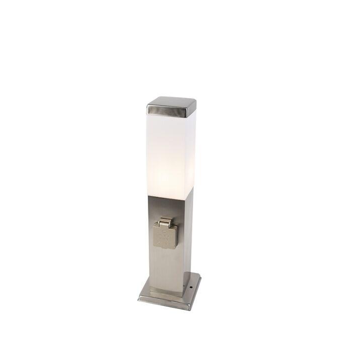 Modern-kültéri-lámpa-45-cm-es-acél-foglalattal-IP44---Malios