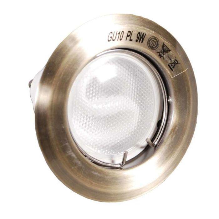 Süllyesztett-spot-égési-bronz-energiatakarékos-lámpával