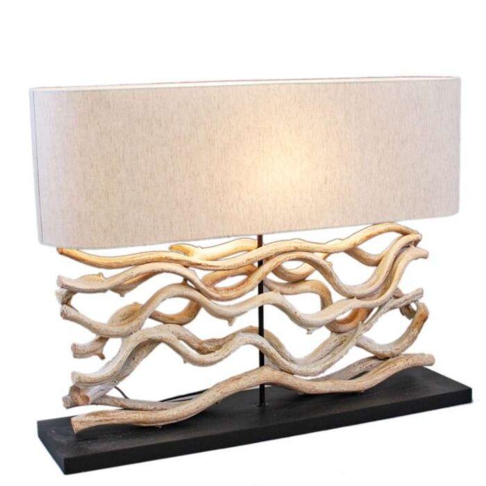 Asztali-lámpa-Chainat-Large,-vászon-árnyékolással