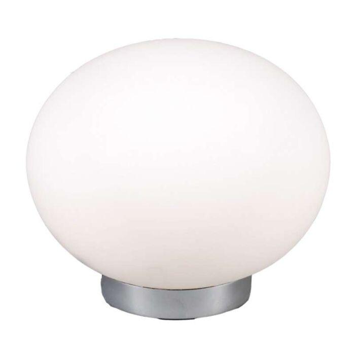 Asztali-lámpa-24-golyós-acél,-fehér-üveggel