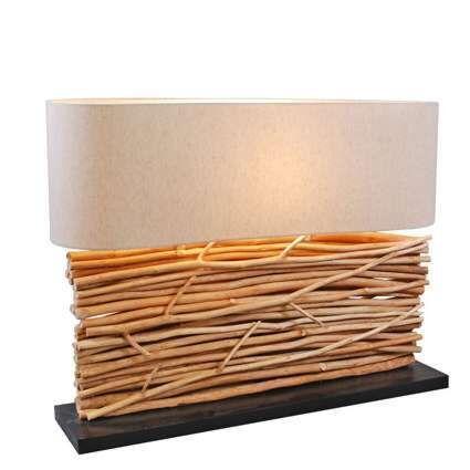 Asztali-lámpa-Maha-vászon-árnyalattal