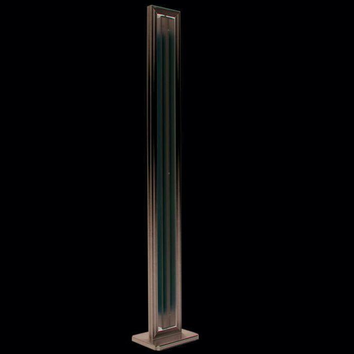 Állólámpa-Cső-egyenes-ezüst