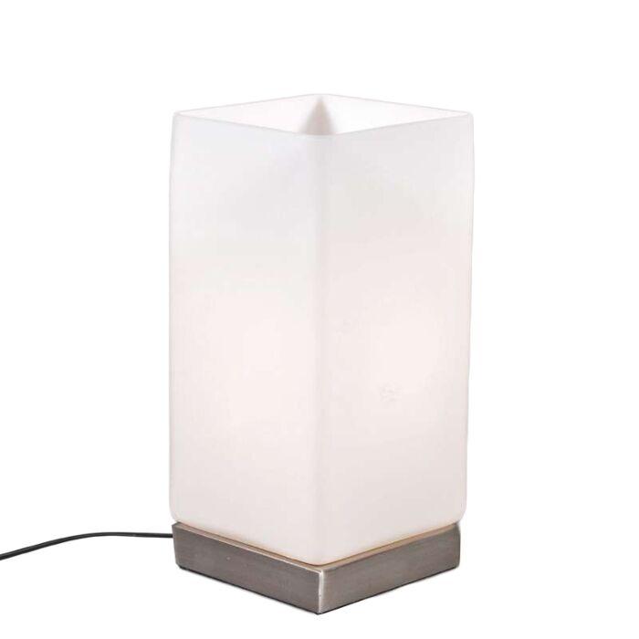 Asztali-lámpa-Akkumulátor-fehér-üveggel