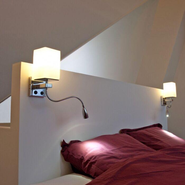 Fali-lámpa-Brescia-króm-fehér-üveggel