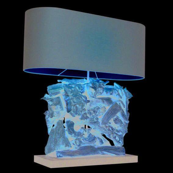 Asztali-lámpa-Raman-Recta-természetes,-barna-árnyalattal