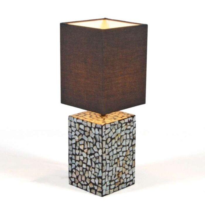 Asztali-lámpa-Pearl-fekete-árnyalattal