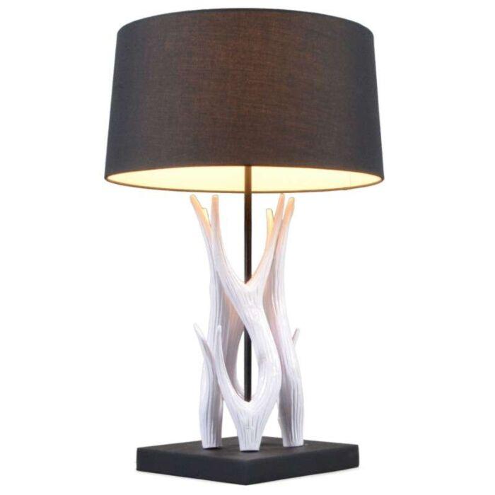 Asztali-lámpa-Yindee-fehér,-fekete-árnyalattal