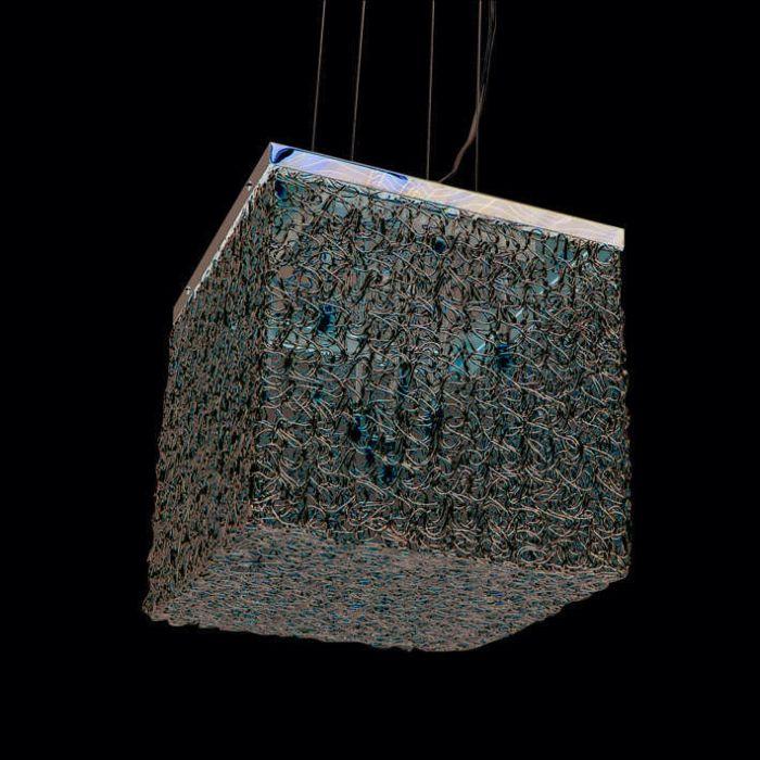 Lógó-lámpa-Draht-Square-10-alumínium