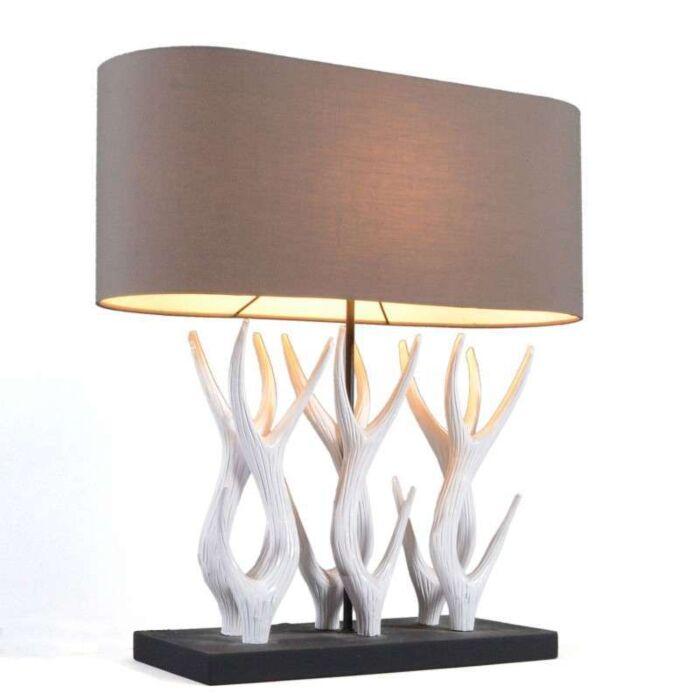 Asztali-lámpa-Yindee-Recta-barna-árnyalattal