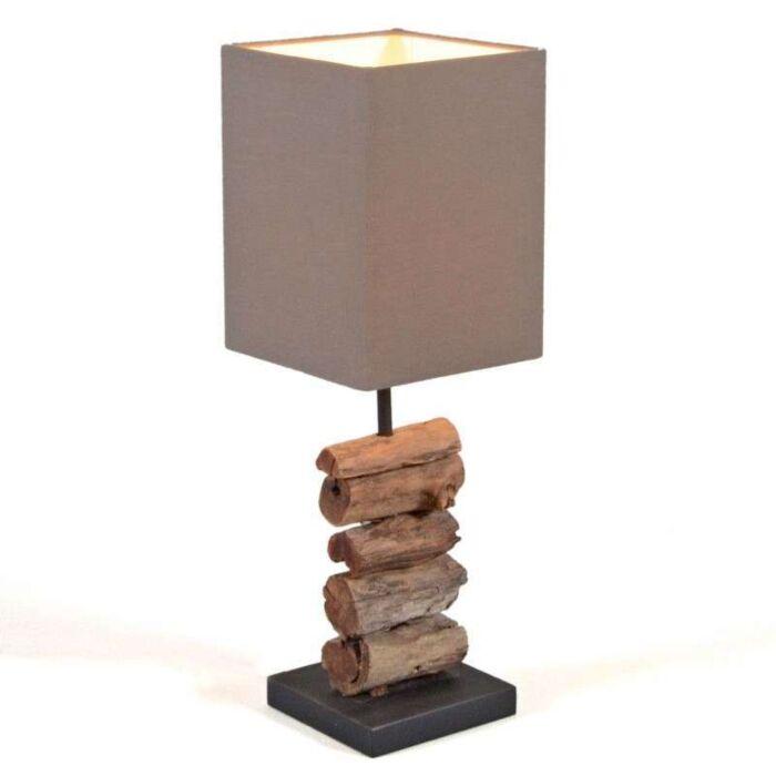 Asztali-lámpa-Mayoree-barna-árnyalattal
