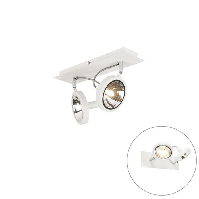 Design-fehér,-2-lámpával-állítható---Nox
