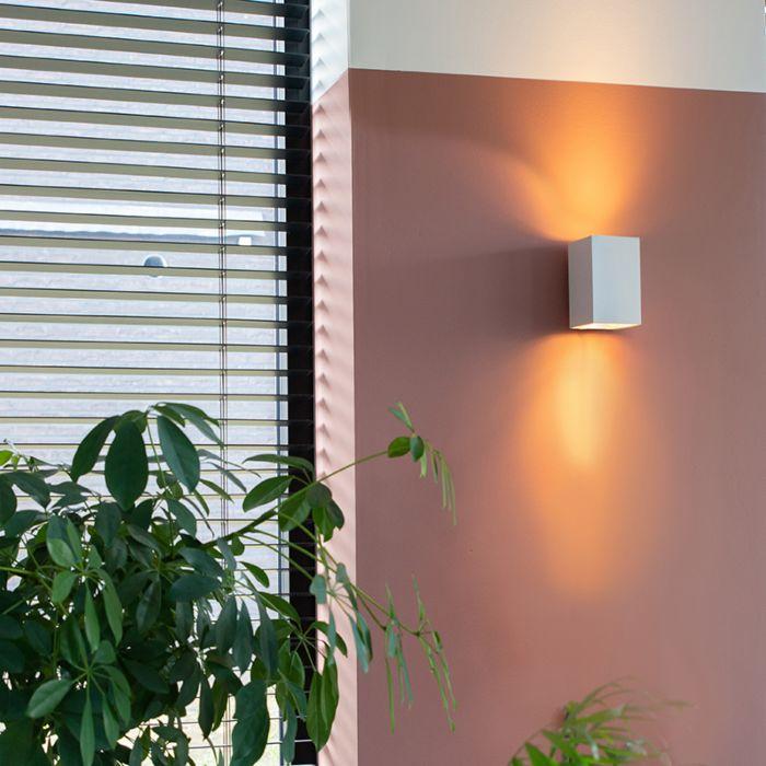 Modern-fali-lámpa-négyzet-alakú-fehér---Sandy