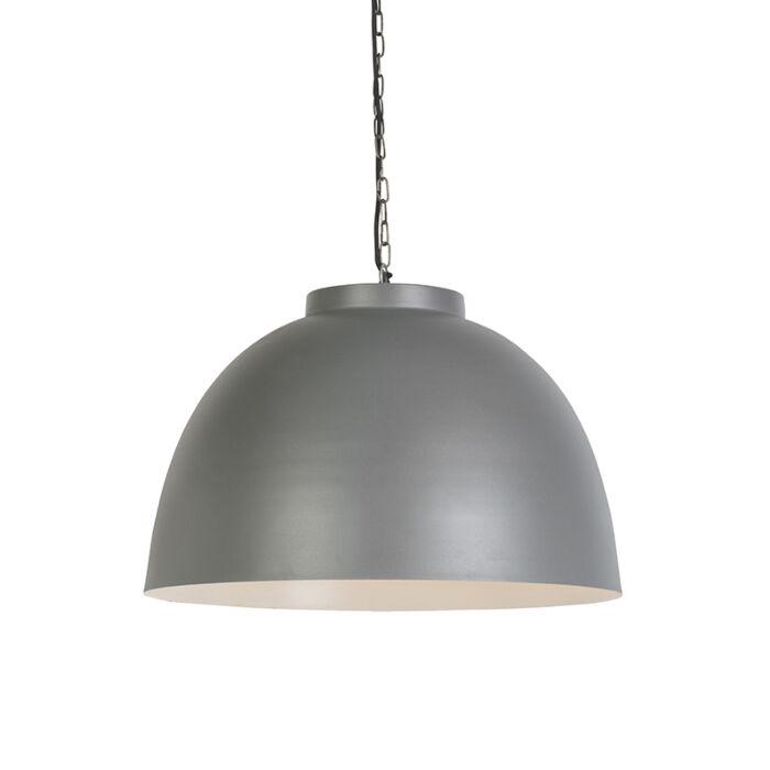 Ipari-függesztett-lámpa-60cm-szürke,-fehér-belsővel---hoodi