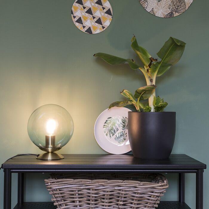Art-deco-asztali-lámpa-sárgaréz-kék-üveggel---Pallon