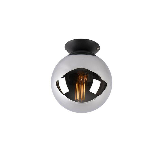 Art-deco-mennyezeti-lámpa-fekete-füstüveggel---Pallon