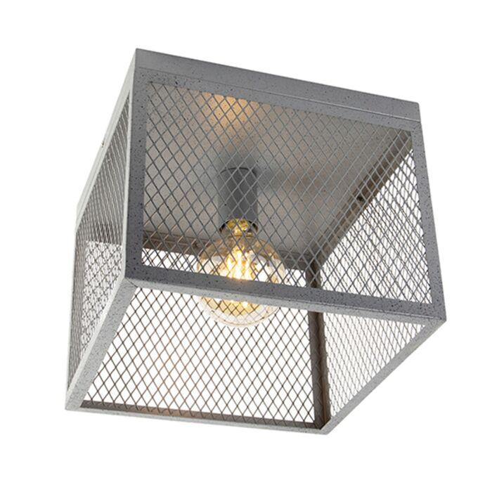 Ipari-mennyezeti-lámpa-antik-ezüst---Cage-Robusto