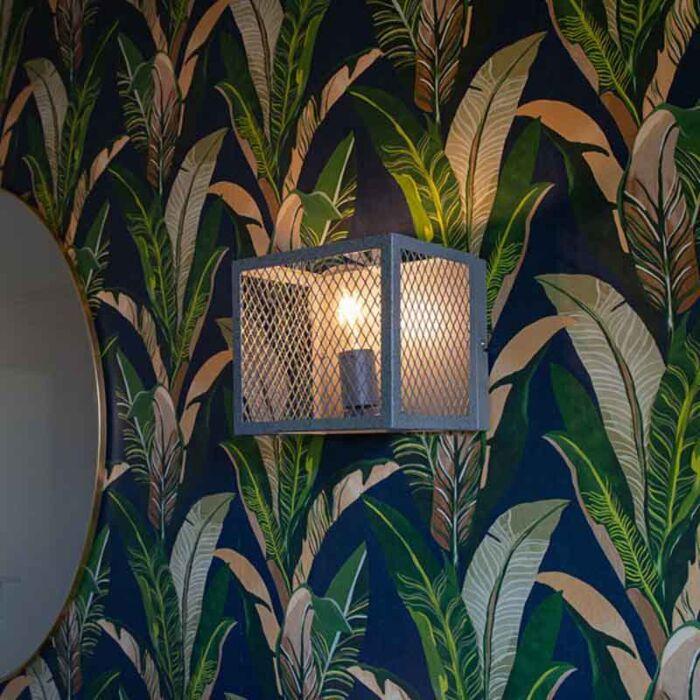 Ipari-fali-lámpa-antik-ezüst---Cage-Robusto