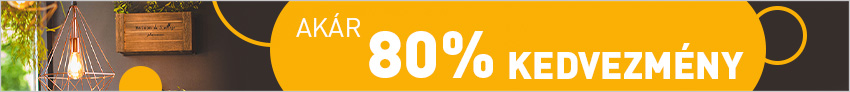 Akár 80% kedvezmény
